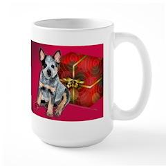 Australian Cattle Dog Puppy Christmas Mug