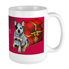 Large Australian Cattle Dog Christmas Puppy Mug