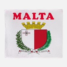 Malta Coat Of Arms Designs Throw Blanket