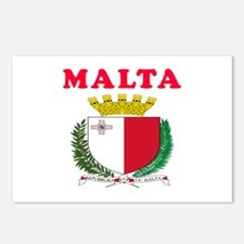Malta Coat Of Arms Designs Postcards (Package of 8
