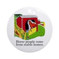 Horse People Ornament (Round)