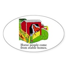 Horse People Oval Decal