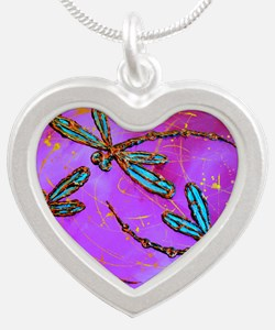 Electric Pink Dragonfly Flit Necklaces