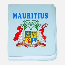 Mauritius Coat Of Arms Designs baby blanket