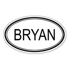 Bryan Oval Design Oval Decal