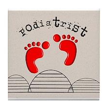 Podiatrist 2 Tile Coaster