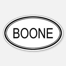 Boone Oval Design Oval Decal