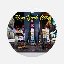 Times Square New York City Ornament (Round)