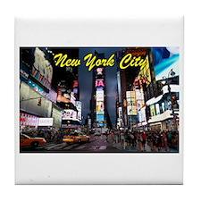 Times Square New York City Tile Coaster