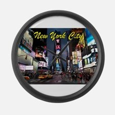 Times Square New York City Large Wall Clock
