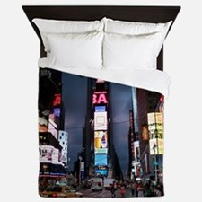 Times Square New York City Queen Duvet