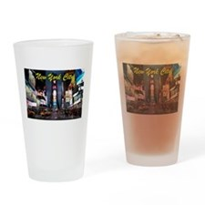 Times Square New York City Drinking Glass