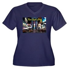 Times Square New York City Plus Size T-Shirt