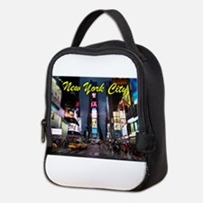 Times Square New York City Neoprene Lunch Bag