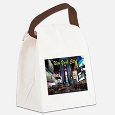 Times Square New York City Canvas Lunch Bag