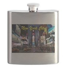 Times Square New York City Flask