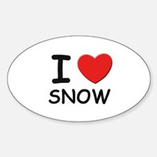 I love snow Oval Decal