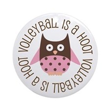 Volleyball Owl Ornament (Round)