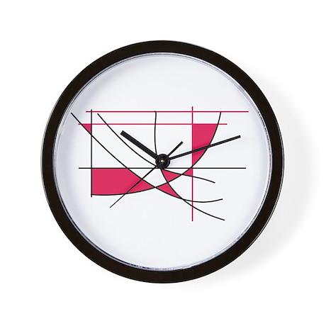 Missy Red Wall Clock