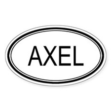 Axel Oval Design Oval Decal