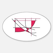 Missy Red Oval Decal