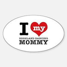 I love my Highland mommy Sticker (Oval)