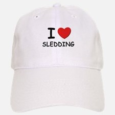 I love sledding Baseball Baseball Cap