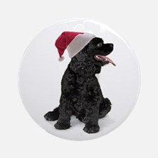 Santa Cocker Ornament (Round)