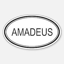 Amadeus Oval Design Oval Decal