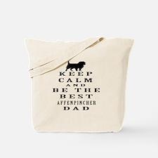 Keep Calm Affenpinsher Designs Tote Bag
