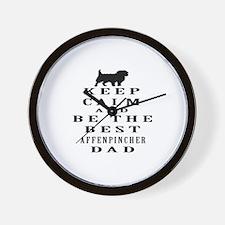 Keep Calm Affenpinsher Designs Wall Clock