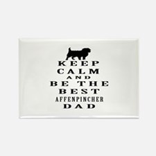 Keep Calm Affenpinsher Designs Rectangle Magnet
