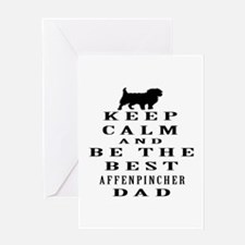 Keep Calm Affenpinsher Designs Greeting Card