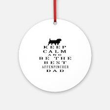 Keep Calm Affenpinsher Designs Ornament (Round)