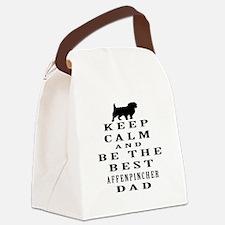 Keep Calm Affenpinsher Designs Canvas Lunch Bag