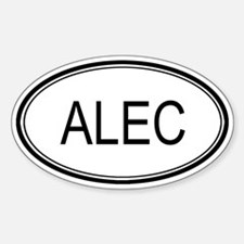 Alec Oval Design Oval Decal
