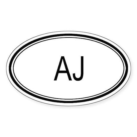 Aj Oval Design Oval Sticker
