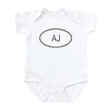Aj Oval Design Infant Bodysuit