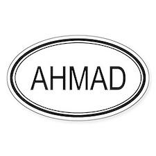Ahmad Oval Design Oval Decal