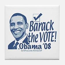 Barack the Vote Tile Coaster