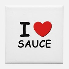 I love sauce Tile Coaster
