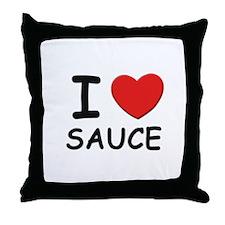 I love sauce Throw Pillow
