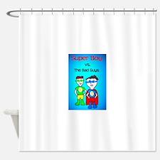 Super Boy Hero Shower Curtain