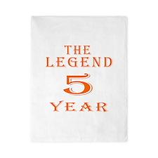 5 year birthday designs Twin Duvet