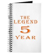 5 year birthday designs Journal