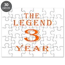 3 year birthday designs Puzzle