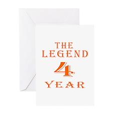 4 year birthday designs Greeting Card