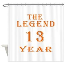 13 year birthday designs Shower Curtain