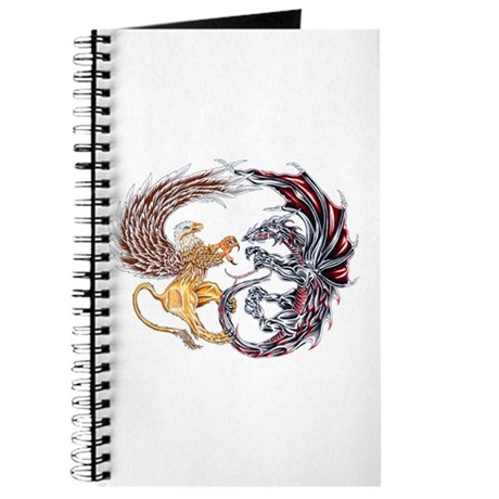 Griffin Fighting Dragon Journal