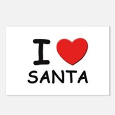I love santa Postcards (Package of 8)
